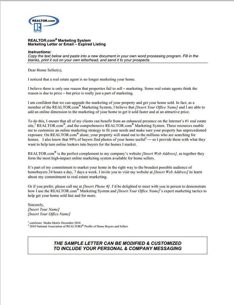 Letter To Seller Example from www.flyerco.com
