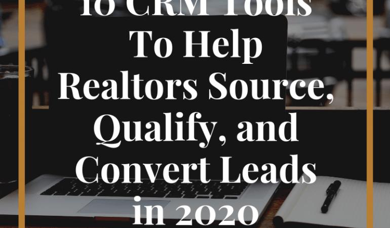 CRM tools for realtors