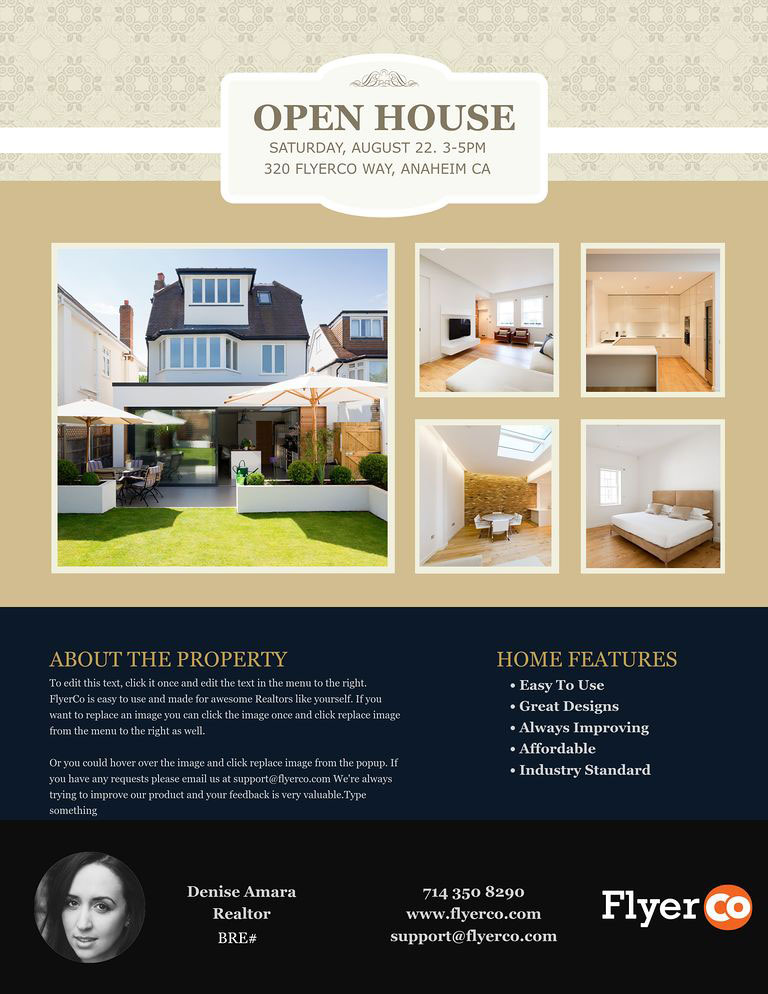 Image result for open house flyer flyerco