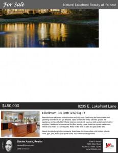 lake front listing flyer